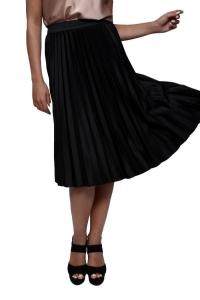 Φούστα Με Πιέτες Σε Μαύρο