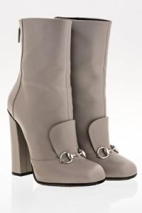 Γκρι Lillian Horsebit Δερμάτινα Ankle Boots / Μέγεθος: 39 - Εφαρμογή: Κανονική