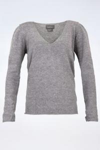 Γκρι Βαμβακερή Μπλούζα με Κρύσταλλα / Μέγεθος: S - Εφαρμογή: Κανονική