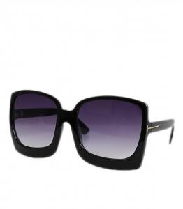 Γυαλιά ηλίου κοκάλινα με μαύρο φακό (Μαύρο)