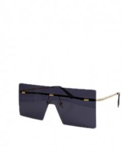 Γυαλιά ηλίου μάσκα με μαύρο φακό και χρυσές λεπτομέρειες (Μαύρο)