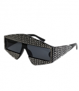 Γυαλιά μάσκα με στρας (Μαύρο)