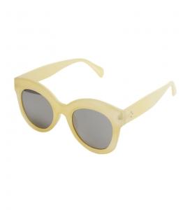 Γυαλιά με εκρού σκελετό και ασημί καθρέφτη φακό
