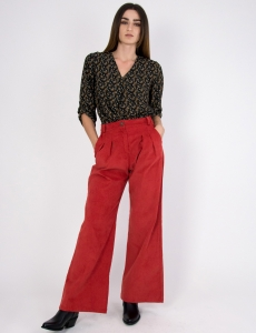 Γυναικεία εκάι κοτλέ παντελόνα