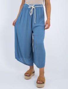 Γυναικεία γαλάζια ζιπ κιλότ