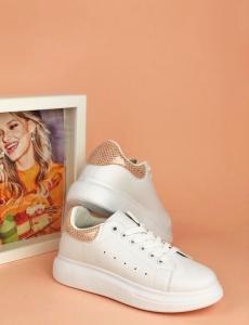 Γυναικεία λευκά ροζ Sneakers