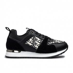 Γυναικεία μαύρα sneakers σε