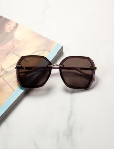 Γυναικεία μωβ πολυγωνικά γυαλιά