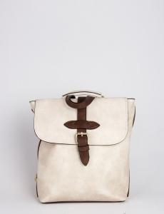 Γυναικεία μπεζ τσάντα πλάτης