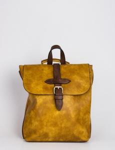 Γυναικεία ώχρα τσάντα πλάτης