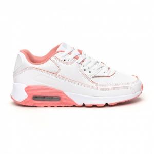 Γυναικεία λευκά-ροζ αθλητικά