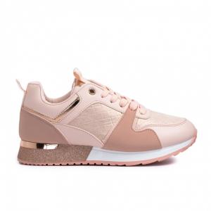 Γυναικεία ροζ sneakers με