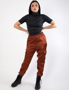 Γυναικείο εκάι σατέν παντελόνι