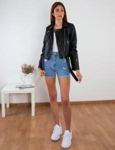 Γυναικείο μαύρο Jacket κοντό