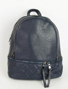 Γυναικείο μπλε Backpack δερματίνη