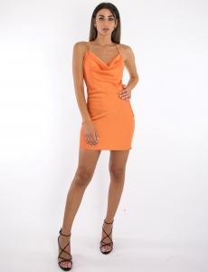 Γυναικείο πορτοκαλί φόρεμα