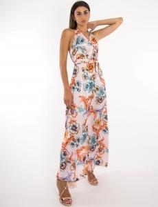 Γυναικείο ροζ floral φόρεμα