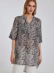 Ημιδιάφανη μπλούζα σε animal
