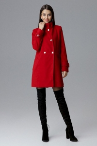 Ημίπαλτο με ψηλό λαιμό - Κόκκινο