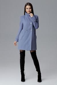 Ημίπαλτο με ψηλό λαιμό - Μπλε