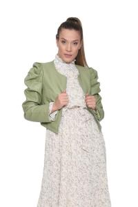 Jacket Δερματίνη Σε Πράσινο