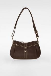 Καφέ Δερμάτινη Τσάντα Ώμου / Crossbody Τσάντα