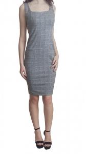 Καρό φόρεμα με γραμμές - ONLINE
