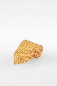 Κίτρινη-Λευκή Μεταξωτή Γραβάτα