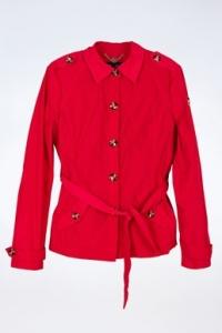 Κόκκινη Κοντή Αδιάβροχη Καμπαρντίνα / Μέγεθος: 40 - Εφαρμογή: XS