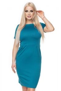 Κοντομάνικο φόρεμα - Μπλε