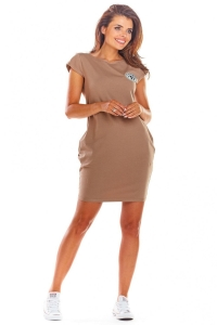 Κοντομάνικο μίνι φόρεμα -