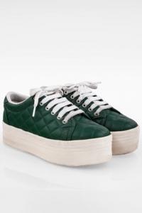 Κυπαρισσί Play Καπιτονέ Δερμάτινα Sneakers με Πλατφόρμα / Μέγεθος: 38 - Εφαρμογή: Κανονική