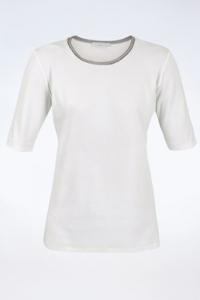 Λευκό Μακό T-Shirt με Γκρι