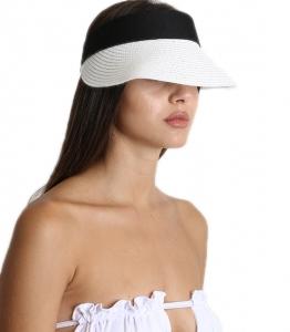 Λευκό ψάθινο καπέλο