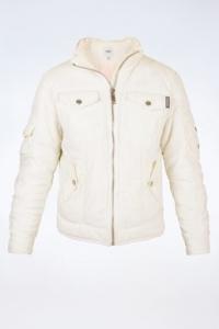 Λευκό Puffer Jacket με Κουκούλα