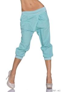 Λινό κάπρι παντελόνι με τσέπες
