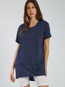 Μακριά βαμβακερή μπλούζα SH6446.4001+6