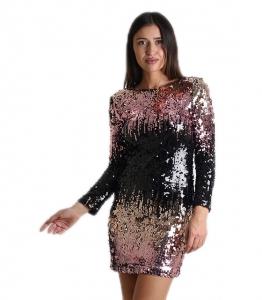 Μακρυμάνικο φόρεμα με παγιέτες