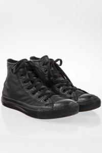 Μαύρα Chuck Taylor All Star Mono Δερμάτινα High Top Sneakers / Μέγεθος: 37 - Εφαρμογή: Κανονική