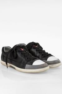 Μαύρα Δερμάτινα Δετά Ανδρικά Sneakers / Μέγεθος: 41 (7)- Εφαρμογή: Κανονική