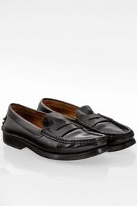 Μαύρα Δερμάτινα Loafers / Μέγεθος: 36.5 - Εφαρμογή: Κανονική