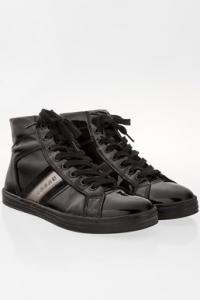 Μαύρα Λουστρίνι Sneakers Μποτάκια