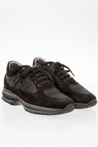 Μαύρα Σουέντ Interactive Sneakers με Δίχτυ / Μέγεθος: 35.5 - Εφαρμογή: 36.5
