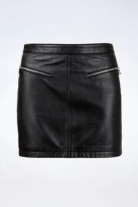Μαύρη Δερμάτινη A-Line Φούστα
