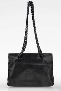 Μαύρη Δερμάτινη Tote Τσάντα