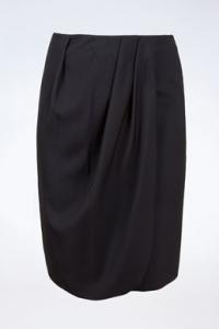 Μαύρη Φούστα με Ντραπάρισμα / Μέγεθος: 44 ΙΤ