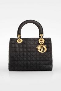Μαύρη Lady Dior Macrofiber