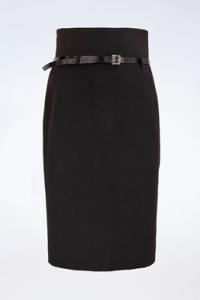 Μαύρη Ψηλόμεση Φούστα με Ζώνη / Μέγεθος: 42 IT - Εφαρμογή: XS / S