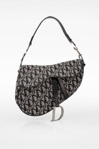 Μαύρη Saddle Oblique Jacquard