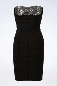Μαύρο Bandage Φόρεμα με Παγιέτες / Μέγεθος: S - Εφαρμογή: XS / S